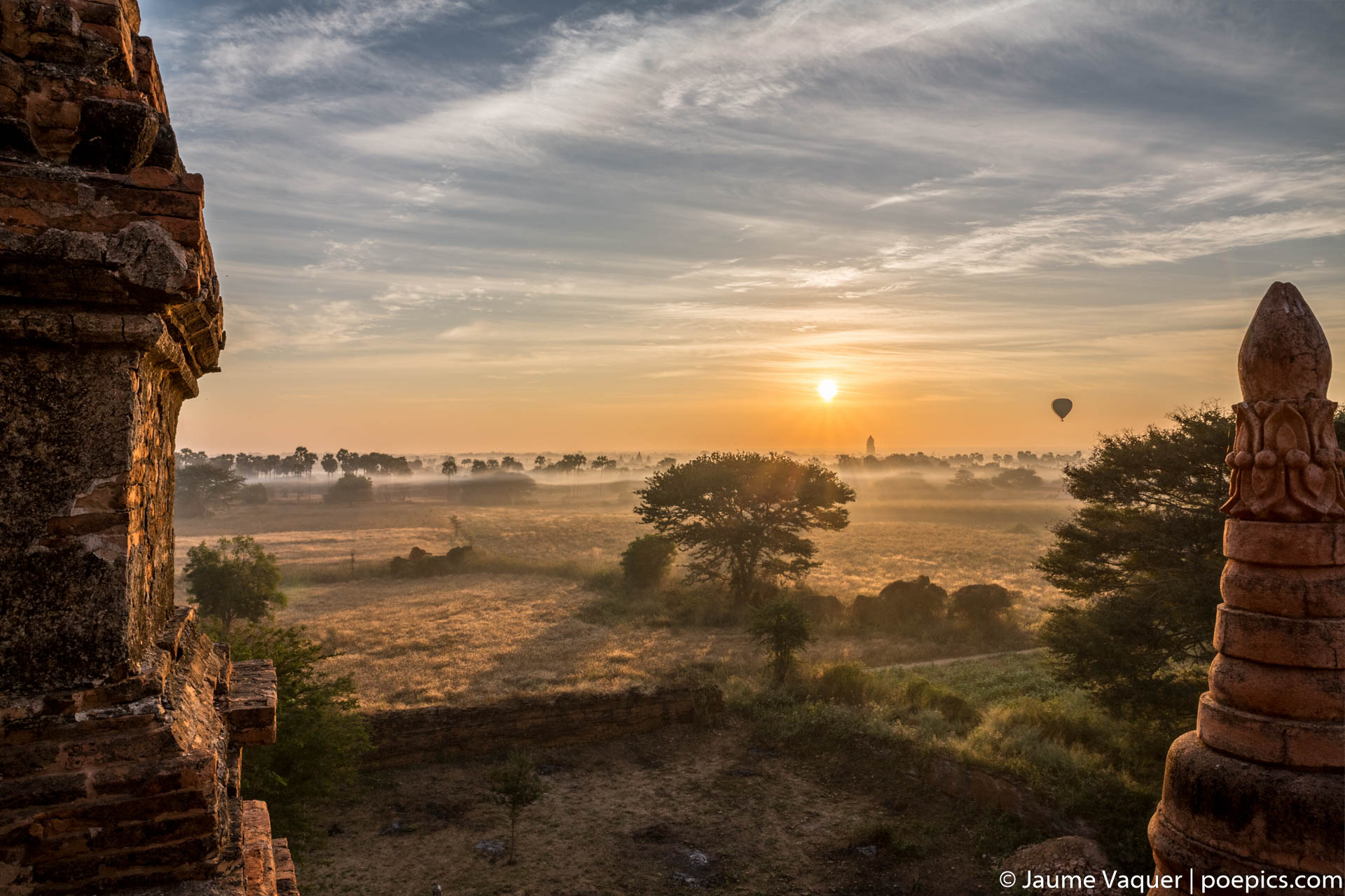 Sunrise in Bagan Temples, Myanmar (Burma)